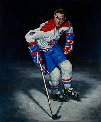 Hockey Fans Painting - Jean Beliveau by Keith Diemer