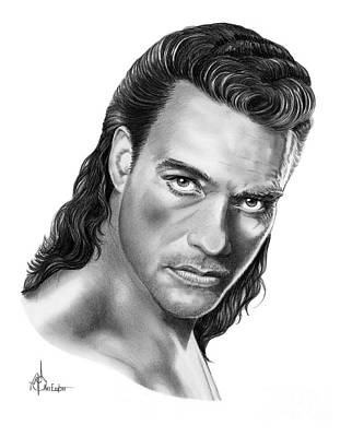 Impact Drawing - Jean-claude Van Damme by Murphy Elliott