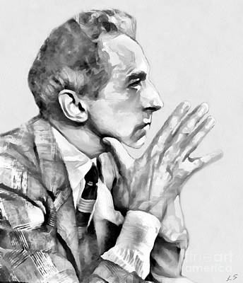 Drawing - Jean Cocteau by Sergey Lukashin