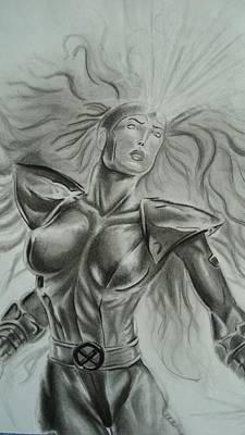 Jean Grey Drawing - Jean Grey by Luis Carlos A