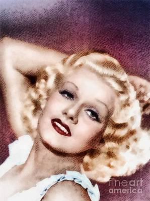 Musician Royalty-Free and Rights-Managed Images - Jean Harlow by John Springfield by John Springfield