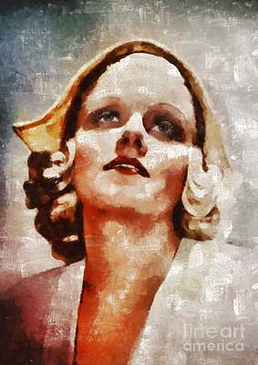 Jean Harlow By Mary Bassett Art Print