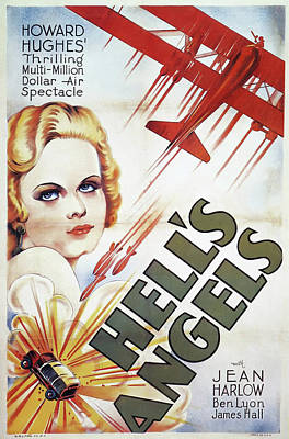 Classic Film Star Mixed Media - Jean Harlow In Hell's Angels 1930 by Mountain Dreams