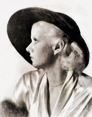 Jean Harlow, Vintage Actress Art Print