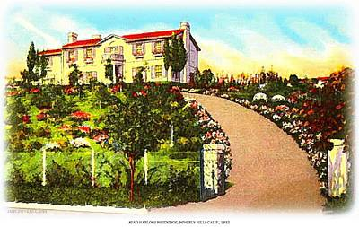 Beverly Hills Mixed Media - Jean Harlow's Beverly Hills Home In 1932 by Dwight Goss
