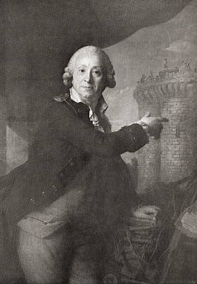 Jean Henri Latude, 1725 Art Print by Vintage Design Pics