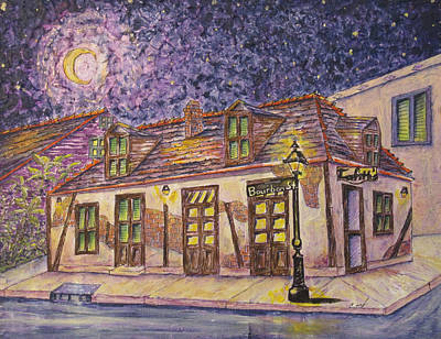 Jean Lafitte Blacksmith Shop Bourbon Street New Orleans Print by Catherine Wilson