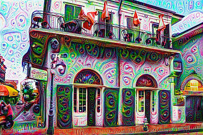 Jean Lafittes Old Absinthe House 1807 - New Orleans Art Print by Bill Cannon