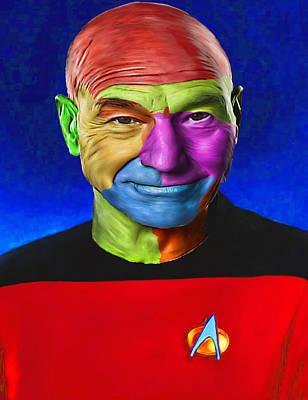 Jean-lic Picard 101 By Nixo Art Print