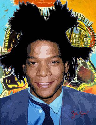 Digital Art - Jean-michel Basquiat 1 by John Keaton