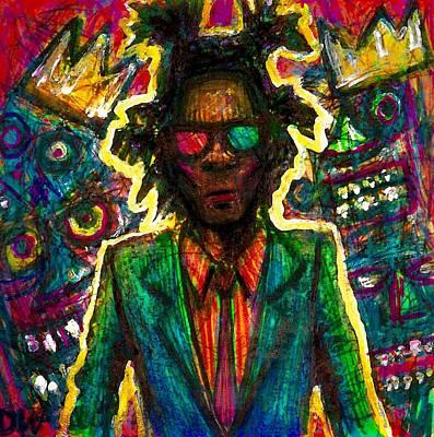 Nyc Mixed Media - Jean-michel Basquiat by David Weinholtz