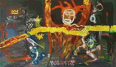 Vox Painting - Jean Michel Basquiat by Gunter  Tanzerel