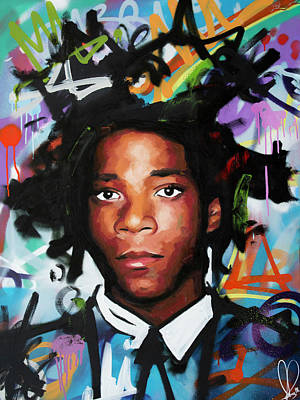 Painting - Jean, Michel, Basquiat II by Richard Day