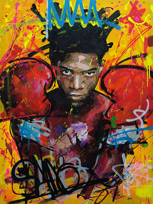 Painting - Jean-michel Basquiat by Richard Day