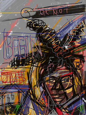 Artist Mixed Media - Jean Michel Basquiat by Russell Pierce