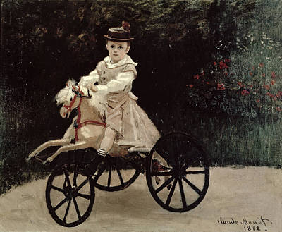 Jean Monet On His Hobby Horse Art Print