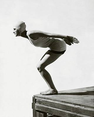 Photograph - Jean Patou Swimwear by George Hoyningen-Huene