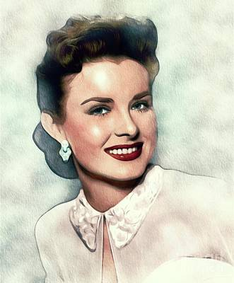 Movies Star Paintings - Jean Peters, Actress by Esoterica Art Agency
