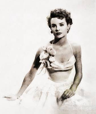Unicorn Dust - Jean Peters, Vintage Actress by John Springfield by Esoterica Art Agency