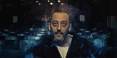 Jean Reno Art Print by Afterdarkness