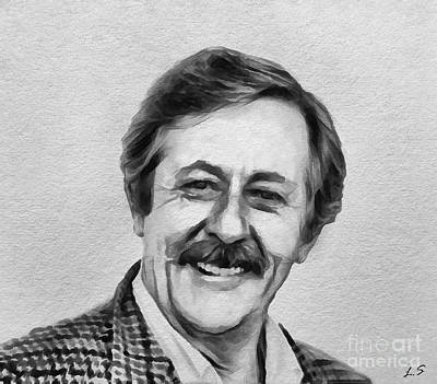 Drawing - Jean Rochefort by Sergey Lukashin