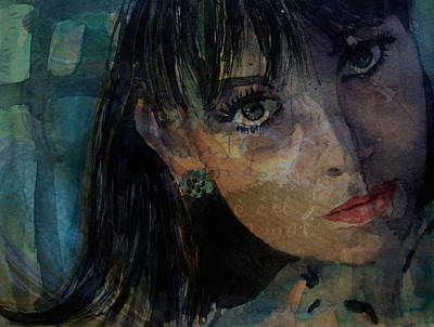 Shrimp Painting - Jean Shrimpton by Paul Lovering
