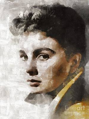 Elvis Presley Painting - Jean Simmons, Actress by Mary Bassett