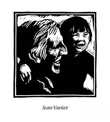 Painting - Jean Vanier - Jlvan by Julie Lonneman