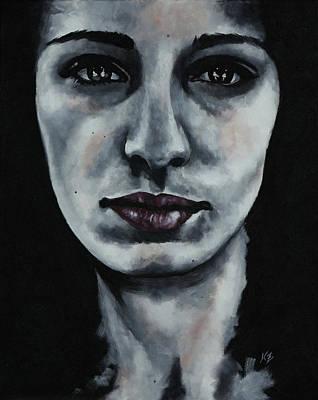 Sad Painting - Jeanette - Portrait Series #1 by Katia Zhukova