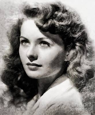 Musicians Royalty Free Images - Jeanne Crain, Vintage Actress Royalty-Free Image by Esoterica Art Agency