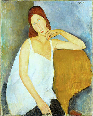 Hebuterne Painting - Jeanne Hebuterne Amedeo Modigliani 1919 by Movie Poster Prints