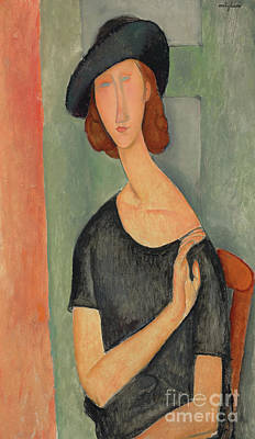 Abstraction Painting - Jeanne Hebuterne Au Chapeau, 1919 by Amedeo Modigliani