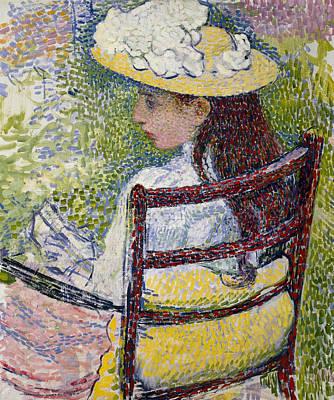 Painting - Jeanne Pissarro by Theo van Rysselberghe