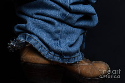 Photograph - Jeans And Cowboy Boots by DS Dodd