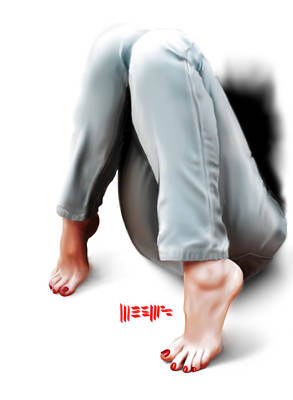 Painting - Jeans And Toes by Dillan Weems