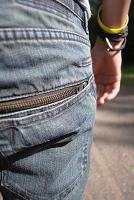 Copper Bracelet Photograph - Jeans by Tash Ann Ladwig