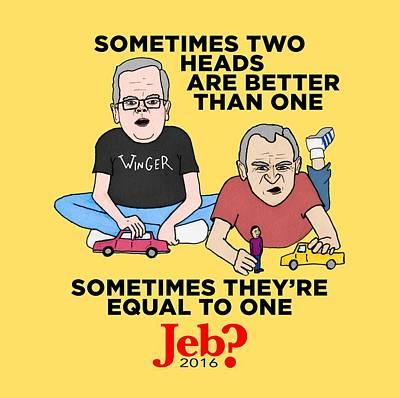 George Bush Painting - Jebbbers by Sean Corcoran