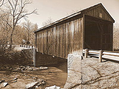 Photograph - Jediah Hill Covered Bridge by Kathy Barney