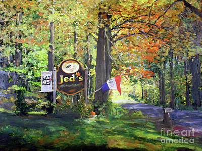 Painting - Jed's Maple In Derby Vt by Donna Walsh