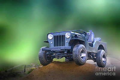 Art Print featuring the photograph Jeep by Charuhas Images