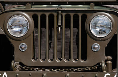 Headlight Photograph - Jeep Grill by Dan Holm