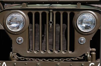 Jeep Grill Art Print by Dan Holm
