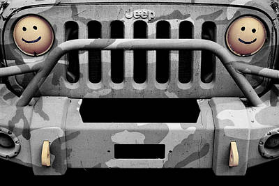 Photograph - Jeep Jk Black And Gray Camo by Luke Moore