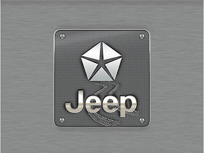 Digital Art - Jeep Metal Logo by Carlos Diaz