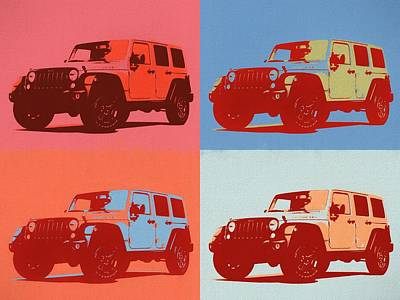 Photograph - Jeep Rubicon Pop Art by Dan Sproul