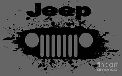 Splatter Digital Art - Jeep Splatter by Paul Kuras
