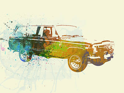 Vintage Car Painting - Jeep Wagoneer by Naxart Studio