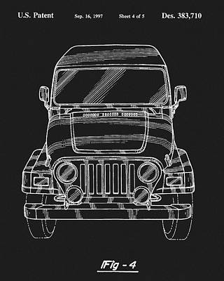 Drawing - Jeep Wrangler Patent by Dan Sproul