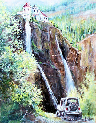 Painting - Jeeping At Bridal Falls  by Linda Shackelford