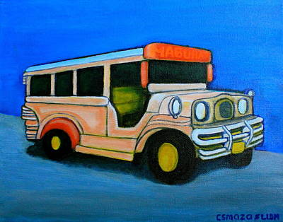Jeepney Art Print by Cyril Maza